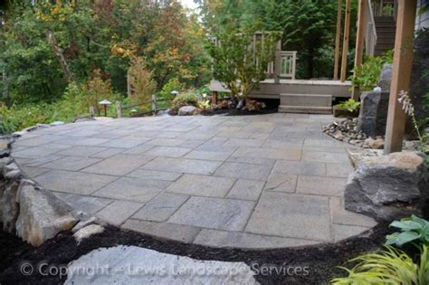building paver patio on slope pics lawnsite