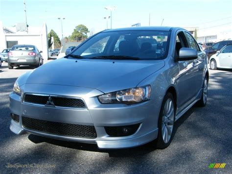 silver mitsubishi lancer black 2008 mitsubishi lancer gts in apex silver metallic