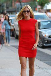 Heidi Klum Red Dress Out New York City June