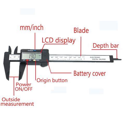 Diagram Of A Digital Caliper by Qstexpress Nueva Llegada 150mm 6 Pulgadas Lcd Digital