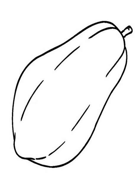 gambar buah hitam putih