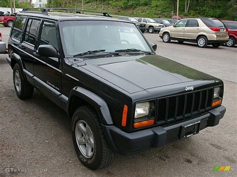 2000 jeep cherokee black black 2000 jeep cherokee sport 4x4 exterior photo