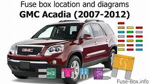 Fuse Box Location And Diagrams  Gmc Acadia  2007-2012