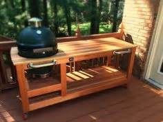 in the green kitchen custom green egg corner table grilling and barbecue 4652