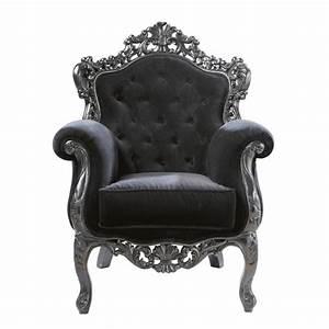 Fauteuil Bergère Maison Du Monde : fauteuil capitonn en velours noir barocco maisons du monde ~ Zukunftsfamilie.com Idées de Décoration