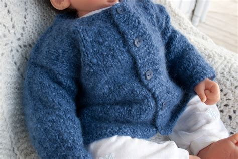 Little Boy Blue Angora Baby Cardigan