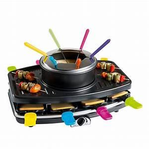 Appareil Raclette Pierrade : appareil 3 en 1 raclette grill fondue domoclip ~ Premium-room.com Idées de Décoration