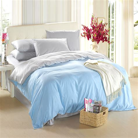 light blue duvet cover light blue silver grey bedding set king size queen quilt