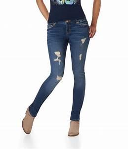 $26 Bayla Skinny Super Destructed Medium Wash Jean ...