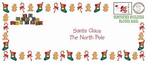 building blocks letters  santa