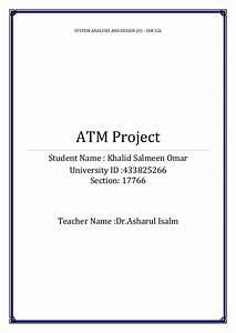 Class Diagram For Atm System Pdf