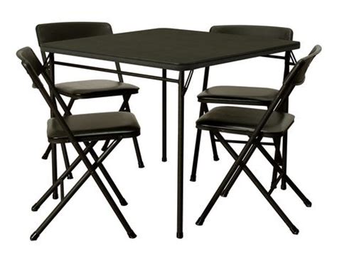 Cosco Folding Chairs Walmart by Cosco 5 Folding Table And Chair Set Walmart Ca