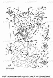 Yamaha Waverunner 2015 Oem Parts Diagram For Engine Hatch 1