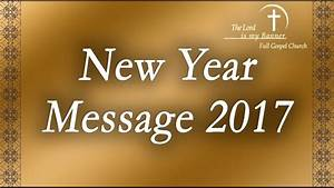 Tamil Christian Message 2017   New Year Message 2017 - YouTube