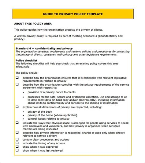 FREE 5+ Sample Privacy Notice Templates in PDF | PSD | MS Word
