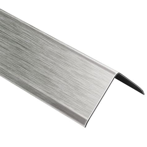 schluter eck k brushed stainless steel 9 16 in x 8 ft 2