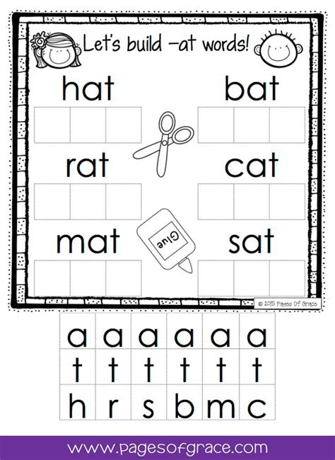 cvc word work activity packet  prep phonics worksheets