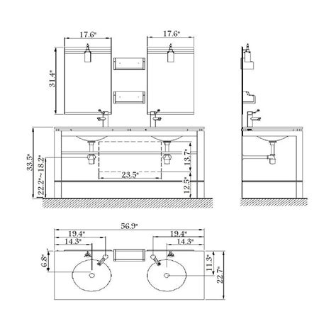 standard bathroom sink size standard bathroom sink size