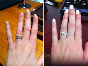 Wedding rings engagement ring vs wedding band diamond for Wedding band vs engagement ring