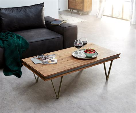designer tische couchtische designer couchtisch stonegrace 117x60 cm akazie natur