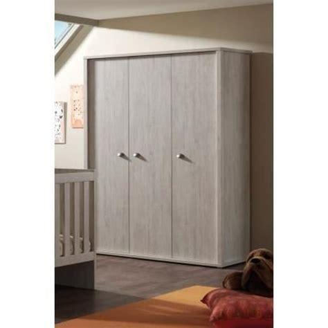 armoire moderne chambre armoire de rangement 3 portes 150cm moderne coloris chêne