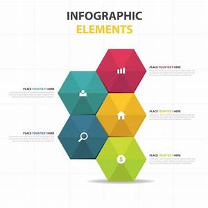 Colorful Abstract Hexagon Business Infographic Template Vector