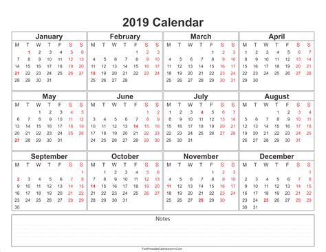 2019 calendar template word free printable calendar 2019 with holidays in word excel pdf