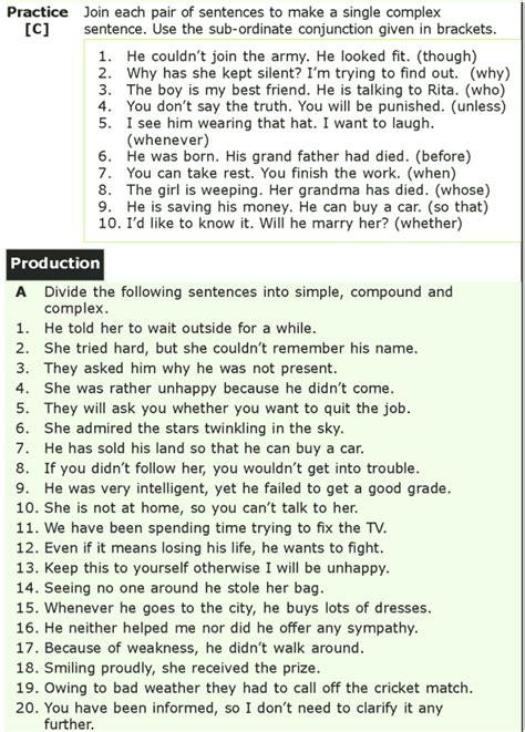 grade  grammar lesson  sentences simple compound