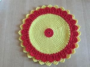 Set De Table Au Crochet : tuto set de table fleur ~ Melissatoandfro.com Idées de Décoration