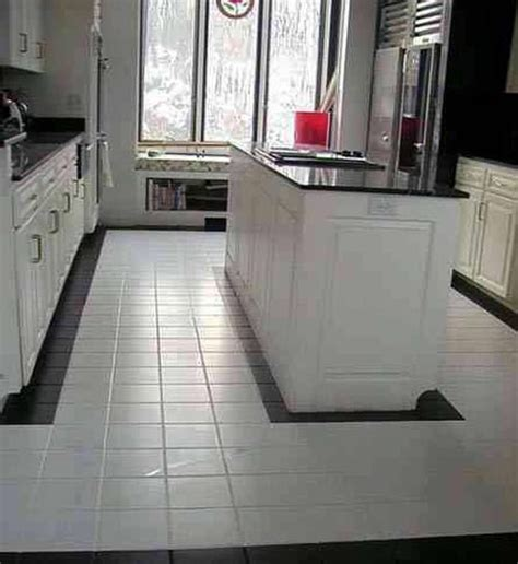 Small Kitchen Design Ideas Photo Gallery - white clean kitchen designs with ceramic tile floor home interiors