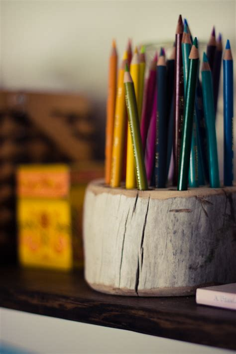 diy pencil holder for desk how to make a simple and rustic diy desk organizer or