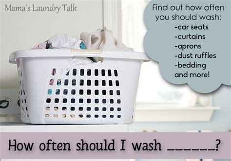 how often should i wash s laundry talk
