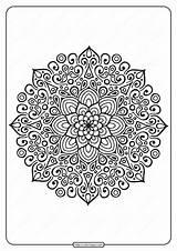 Mandala Outline Coloring Printable Pdf Tweet Whatsapp sketch template