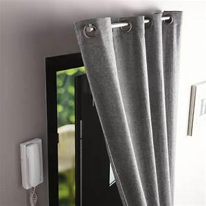 Barre Rideau Fixation Plafond : barre rideau pour porte ib 100 cm pour rideau illets ~ Premium-room.com Idées de Décoration