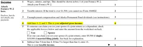 Adjusted Gross Income On 1040EZ