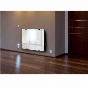 Chauffage Panneau Rayonnant : carrera 1000w radiateur panneau rayonnant verre achat ~ Edinachiropracticcenter.com Idées de Décoration