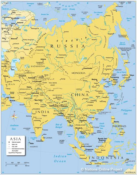 map  asia political map  asia nations  project