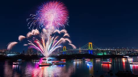 Tokyo Fireworks Uhd 4k Wallpaper Pixelz