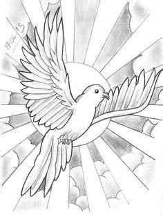 Dove from heaven | Tattoo | Tattoo vorlagen, Tattoo ideen, Tattoos vorlagen