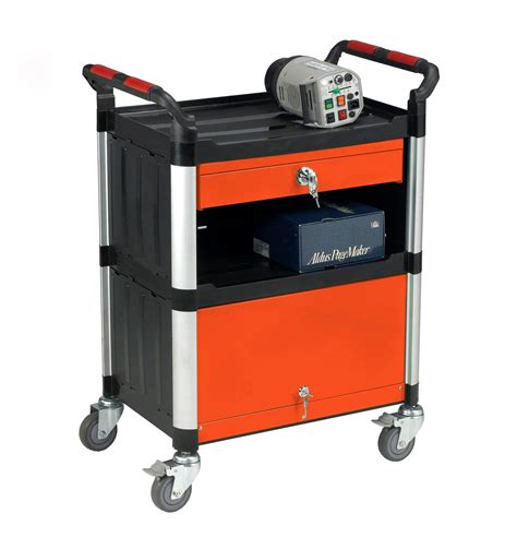 3 Shelf Trolley with Drawer and Cabinet - Shop ...