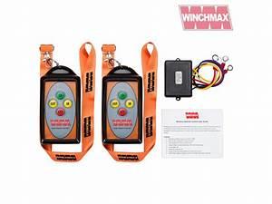 Winchmax Winch Remote Wireless Twin Handset 12 Volt Or 24