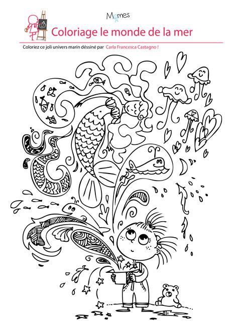 recette de cuisine équilibré coloriage le monde de la mer momes