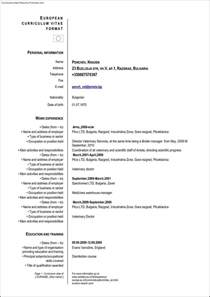 curriculum vitae resume format european resume template free sles exles format resume curruculum vitae free