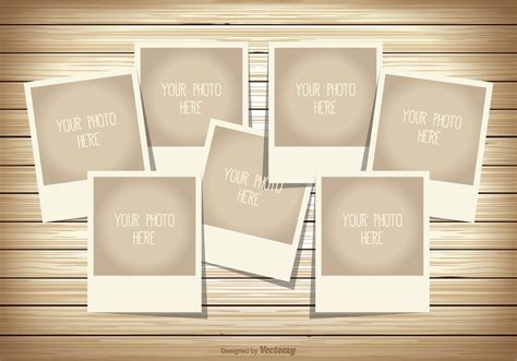 photo collage template   vector art stock