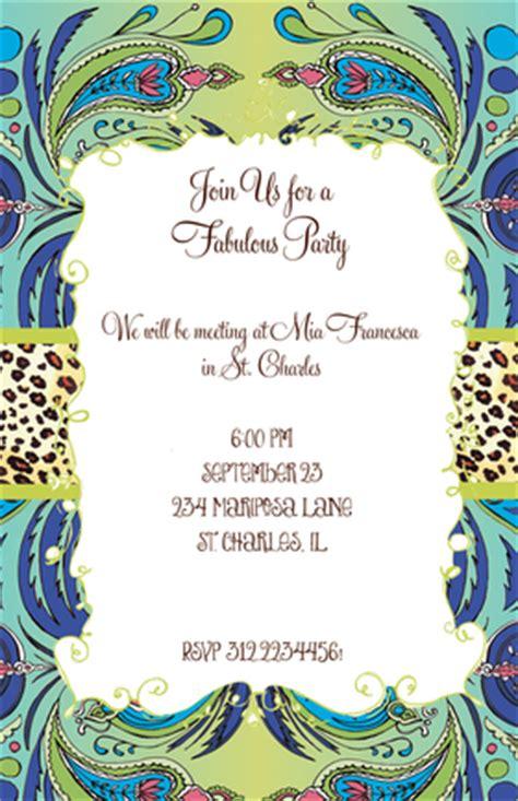 invitations birthday gals birthday moody blues invitation
