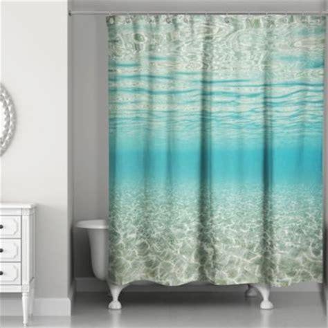 designs direct   ocean shower curtain  blue