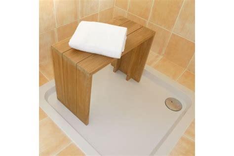 banc teck massif pour salle de bains 60 cm la galerie du teck