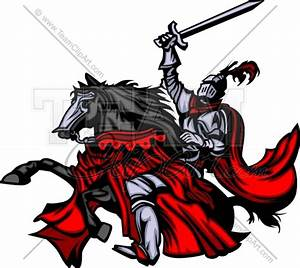Knight On Horse Mascot Clipart - Clipart Suggest