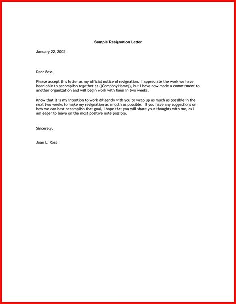 letter of resignation 2 weeks notice resignation 2 weeks notice apa exle 49862