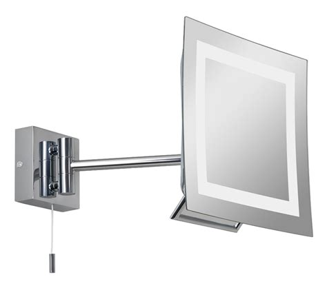 Polished Chrome Bathroom Mirrors by Astro Niro Switched Bathroom Mirror Light Polished Chrome